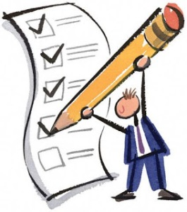 Big Checklist --- Image by © Images.com/CORBIS